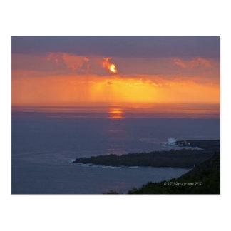 Sunset over Kealakekua Bay, South Kona Postcard