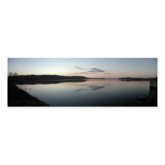 Sunset Over Lake Bookmark Business Card Template