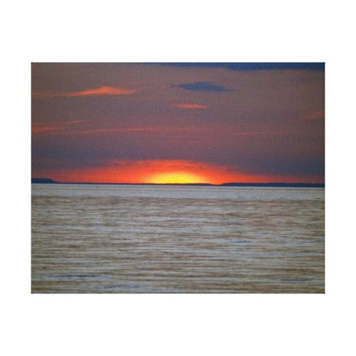 Sunset Over Lake Canvas Prints