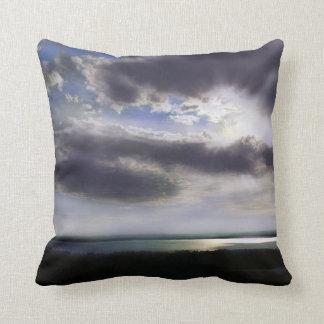 Sunset over lake cushion