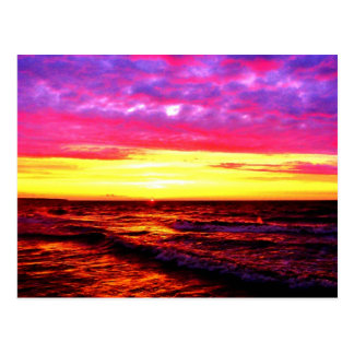 Sunset over Lake Erie Postcard