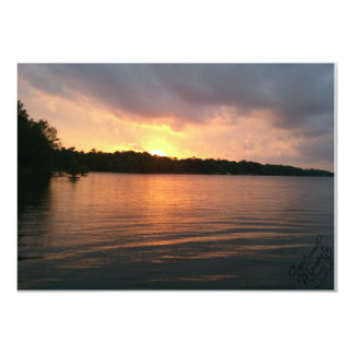 Sunset Over Lake Marion - Invitation
