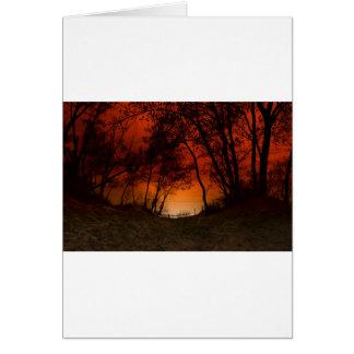 Sunset over Lake Michigan dunes Card