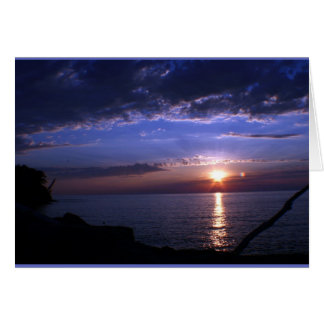 Sunset over Lake Ontario Card