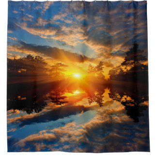 Sunset over Lake Shower Curtain