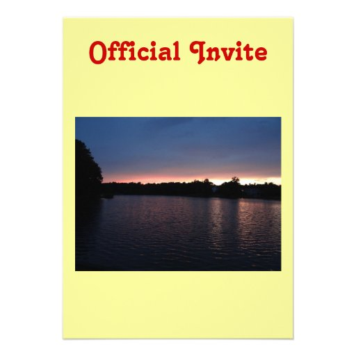 Sunset Over Lake Swan, Georgia Custom Invites