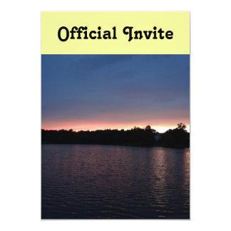 Sunset Over Lake Swan, Georgia 13 Cm X 18 Cm Invitation Card