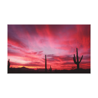 Sunset over Laveen Canvas Print