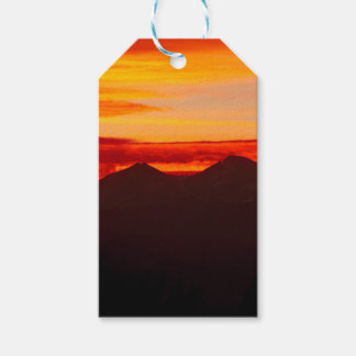Sunset Over Longs Peak Colorado Gift Tags