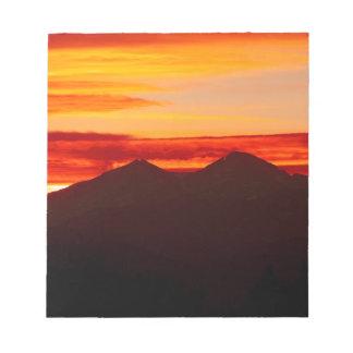 Sunset Over Longs Peak Colorado Notepad
