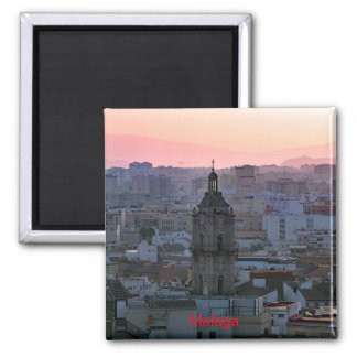 Sunset over Malaga Magnet