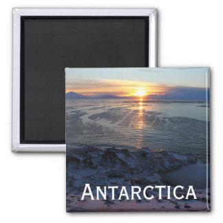 Sunset over McMurdo Sound, Antarctica Square Magnet