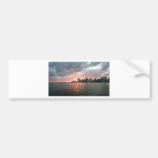 Sunset over Miami Bumper Sticker