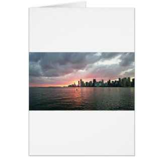 Sunset over Miami Card