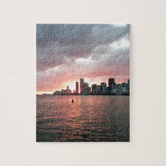 Sunset over Miami Jigsaw Puzzle