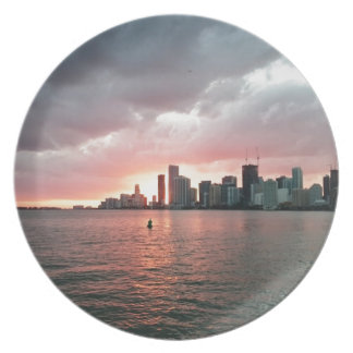 Sunset over Miami Plate