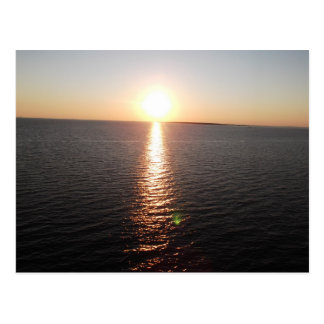 Sunset Over Mobile Bay Postcard