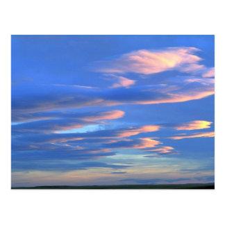 Sunset over Montana grasslands, Montana, USA Postcard