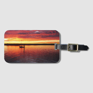 Sunset over Morro Bay luggage tag
