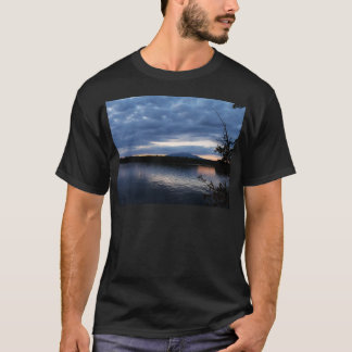 Sunset Over Mount Katahdin Millinocket Lake Maine T-Shirt