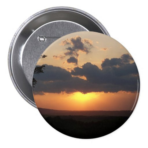 Sunset over Mountains Button