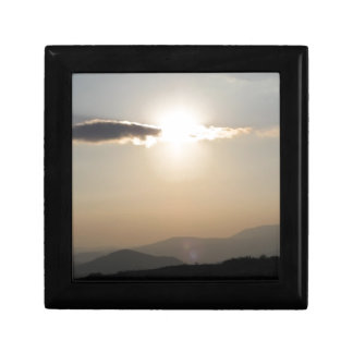 Sunset over mountains gift box
