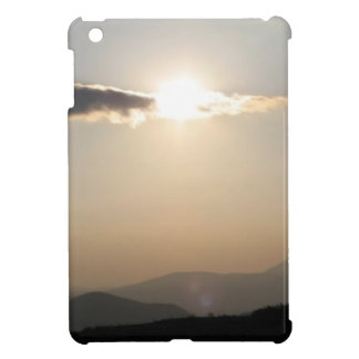 Sunset over mountains iPad mini case
