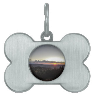 sunset over mountains pet ID tag