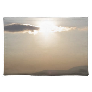 Sunset over mountains placemat