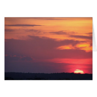 sunset over ocean city bay ~ nj note card