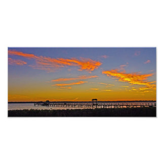 Sunset over Old Tampa Bay Art Photo