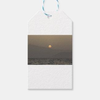 Sunset over Paros island mountains