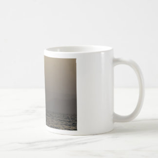 Sunset over Paros island mountains Coffee Mug