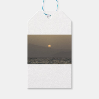 Sunset over Paros island mountains Gift Tags