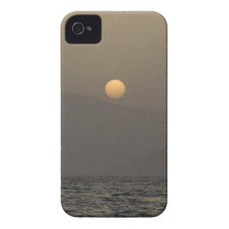 Sunset over Paros island mountains iPhone 4 Case