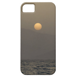 Sunset over Paros island mountains iPhone 5 Case