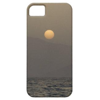 Sunset over Paros island mountains iPhone 5 Case