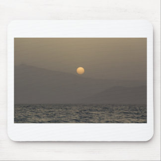 Sunset over Paros island mountains Mouse Pad