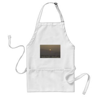 Sunset over Paros island mountains Standard Apron