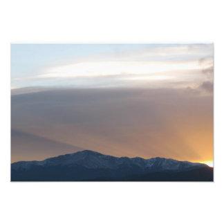 Sunset over Pikes Peak Photo