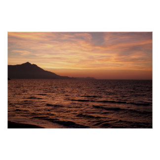 Sunset over Procida Poster