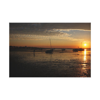 Sunset over Provincetown Canvas Print