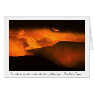 Sunset Over Quito, Ecuador Card