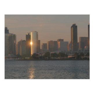 Sunset over San Diego Postcard