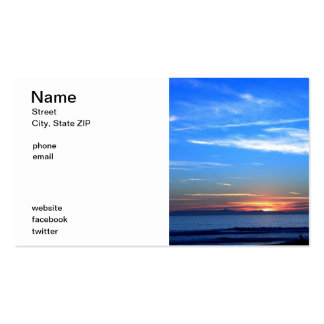 Sunset Over Santa Cruz Island Business Card Template