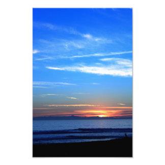 Sunset Over Santa Cruz Island Photographic Print