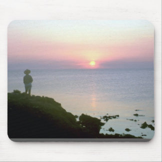 Sunset over Sea of Cortez, Sonora coast, Mexico Mousepads