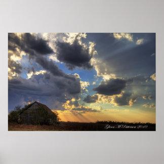 Sunset Over Shack III Poster