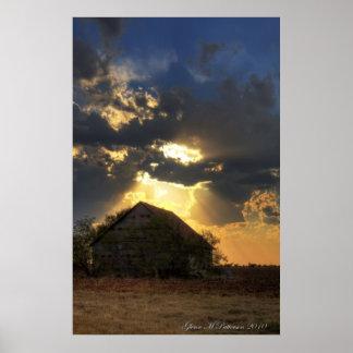 Sunset Over Shack IV Print