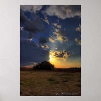 Sunset Over Shack VII Poster